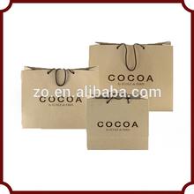 promotional luxury kraft paper shopping bag