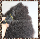 wholesale afro puff On Stock Kinky Curly unprocessed Virgin Remy Mongolian 4b-4c Hair for braiding natural hair extensions