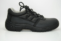 PU Injected Black embossed buffalo leather Safety Shoes WM910