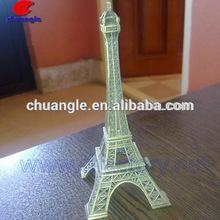3D Metal Eiffel Tower Building Model