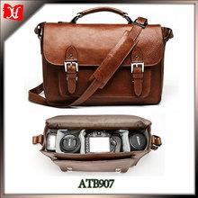 Wholesale online-shopping Vintage Fashion Leather dslr Camera Bag