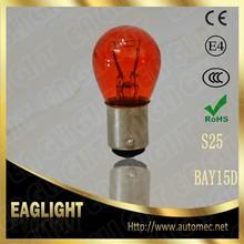 S25 BAY15D 12V P21/5W 1157 amber color automotive stop lamp turn signal light bulb