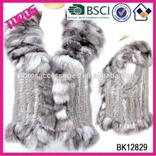 High Quaity Women Fashion Thick Fur Coat Sand With Fur Collar Lady Mink Fur Vest