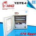 Melhor preço de 176 ovos aprovado pela CE automático cheio preço de ovos de avestruz para venda YZITE-4 incubadora de ovos