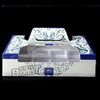 8 divider handhold mooncake box blue classic/cake box /handhold cake box with 8 divider#KZ0087-8