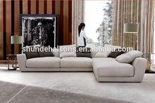 High quality graceful linen fabric sofa,L shaped modern home use fabric sofa