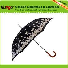dubai wholesale market, curve handle color changing umbrella