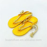 Foam PVC woman rope sandals slipper