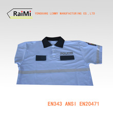 high visibility reflective security polo shirt ANSI107