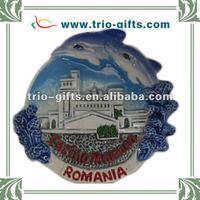 2012 newest european souvenir ceramic fridge magnet