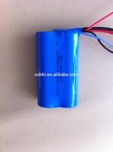 Li-ion rechargeable battery 7.4V 18650 1500mAh for backup