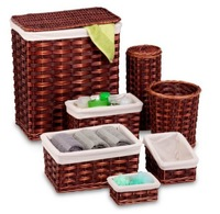 Hyacinth Laundry Baskets Bamboo and Rattan Laundry basket