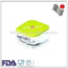 High Quality Tea Tin Box with special transparent print/Fashion tea round tin box wholesale