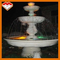 White marble natural big garden stone water fountain