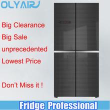 BCD-389 BLACK color side by side multi door refrigerator