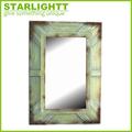الفندق مرآة مؤطرة الفن شنقا، خشبية عتيقة مرآة الحائط الزخرفية، الخشب القديم إطار المرآة