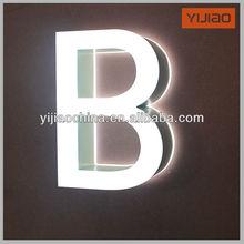 2014 Fashion Acrylic Mini double side light LED Letters sign board