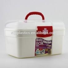 empty plastic first aid emergency medical kit box