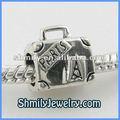 großhandel 925 sterling silber perlen mit europäischen koffer design hohe qualität bas108 alphabet schmuck erkenntnisse