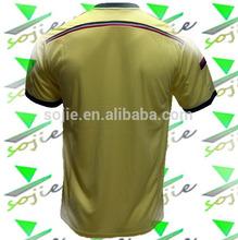 14/15 milan orange thai quality soccer jerseys, t shirt soccer personalized,cheap football kits china