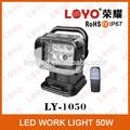 venda quente 50w carro led trabalho lâmpada 12v trabalho lâmpada led diodo emissor de luz de controle remoto