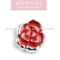 Monnel f1 best-seller rosa vermelha flutuante charm para medalhão pendente