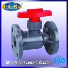 Flange type PVC ball valve handle lock