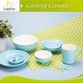 2014 venta caliente 6 piezas de cerámica de porcelana& china cena de consumo
