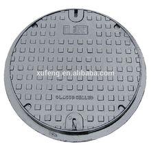 B125 C250 D400 E600 F900 Ductile Iron Castings Round Manhole Cover with EN124 BVQI AS3996