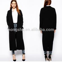 alibaba china fashion loose style long sleeve duster long coat women winter coat cocoon coat HSC-3028
