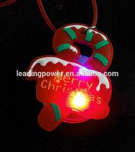 LED flashing christmas umbrella necklace pendant glow necklace