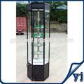 Óculos rotativas exibir estande, Rotativa vitrine de vidro rotativa vitrine rotativa, Girando jóias do armário