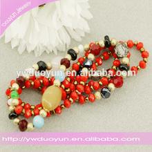 Wholesale Faced Glass Beads Lampwork Multi Strand Bracelets