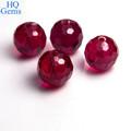 rubi sintético com furo de grânulos de gemstone ruby