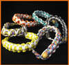 Colorful protable metal Wood spice pipe rack bracelet chain tobacco pipe