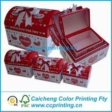 handmade exquisite treasure chest paper gift box
