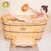 Natural solid wood bathtub,Wooden hot tub,wooden bathtub