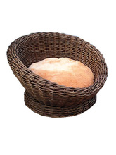 handwoven willow pet(dogs & cats) Bed with stand