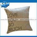 personalizado de arpillera lanzar fundas de almohada con el logotipo impreso