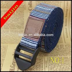 yoga belt with cinch buckle Yoga stretch belt Yoga strap 240cm with plastic buckle