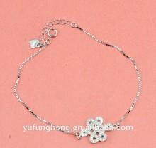charme 925 prata esterlina pulseira meninas infinito prata pulseira de formatura jóia pulseira de prata