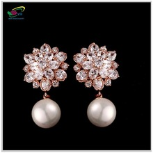 Romantic New Model Dangle Pearl Fancy Earring Chandeliers