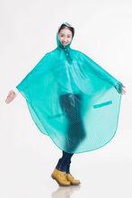 Plastic material printed rain poncho