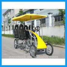 fashionable tandem bike 4 wheel bicycle for sale