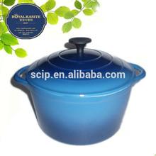Blue color enamel cast iron cookware