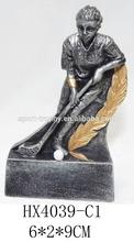 cheap Resin ice hockey player figurine trophy craft