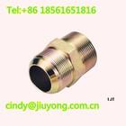 zinc plated male straight 37 flared JIC tube fitting