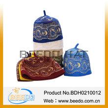 Factory wholesale wool felt embroidered muslim hat men