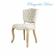 french style dining chair button tufted fabric dining chair