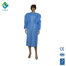 sterile disposable doctor's medical isolation surgical gown